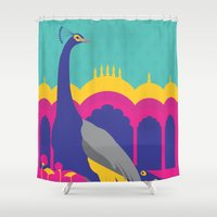 india Shower Curtains featuring India by Kapil Bhagat