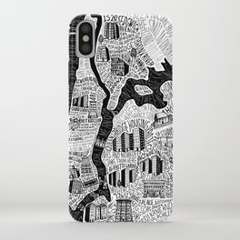 Hip-Hop Map of New York iPhone Case