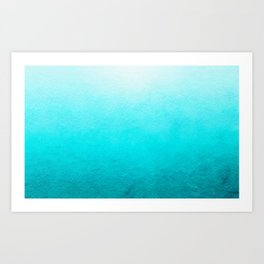 Clear Blue Sea Art Print