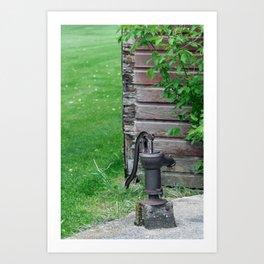 Antique Water Pump Art Print