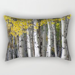 Yellow, Black, and White // Aspen Trees in Crested Butte Rectangular Pillow