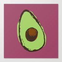 avocado Canvas Prints featuring avocado  by Marzipan