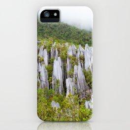 Limestone pinnacles formation at Gunung Mulu national park Borneo Malaysia iPhone Case