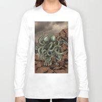 cthulhu Long Sleeve T-shirts featuring Cthulhu by MrDenmac
