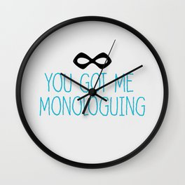 Syndrome Monologuing Wall Clock