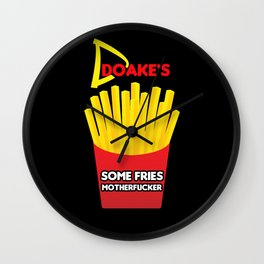Some Fries Motherfucker - Dexter/Doakes Wall Clock
