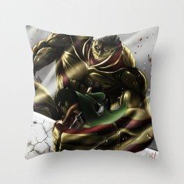 Armored Titan Throw Pillow
