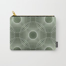 Circled in Shades of Emerald Green Carry-All Pouch