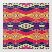 native Canvas Prints featuring native by spinL