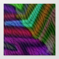 knit Canvas Prints featuring Knit by RingWaveArt