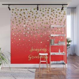 """Confetti Xmas """"Seasons Greetings"""" Wall Mural"""