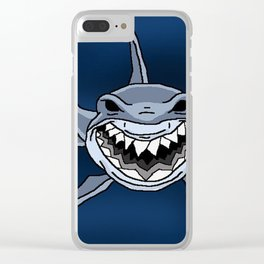 Happy Shark Clear iPhone Case