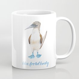 Blue Footed Booby Bird in Watercolor Coffee Mug