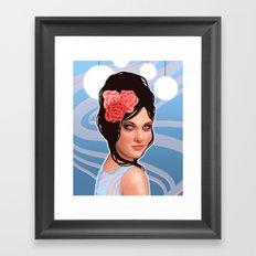 Retro Dancer with Beehive Hairdo Framed Art Print