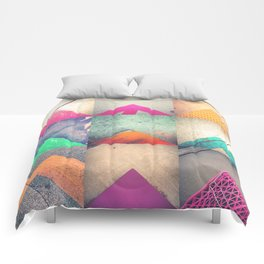 Bright Triangles Comforters