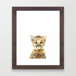 Little Mountain Lion Framed Art Print