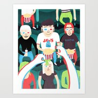 movies Art Prints featuring 3D Movies by Patrick O'Leary