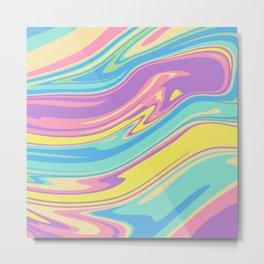 Bold Holographic Color Pop Metal Print