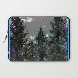 BABY BLUE WESTERN PINE TREES  LANDSCAPE Laptop Sleeve