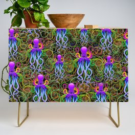 Octopus Psychedelic Luminescence Credenza