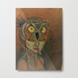 stare of an owl Metal Print