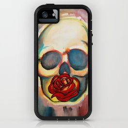 Watercolor Skull and Rose iPhone Case