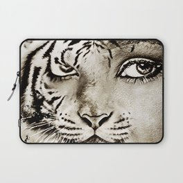 Tiger or woman Laptop Sleeve