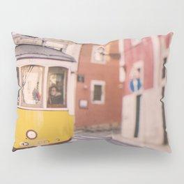 Lisbon Yellow Trolley Pillow Sham