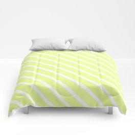 Lemongrass Diagonal Stripes Comforters