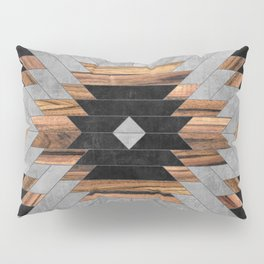 Urban Tribal Pattern No.6 - Aztec - Concrete and Wood Pillow Sham