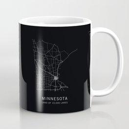 Minnesota State Road Map Coffee Mug