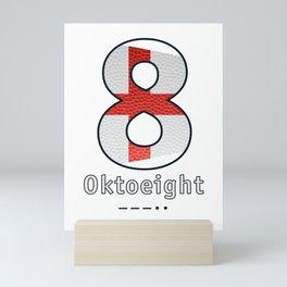 Oktoeight - Navy Code Mini Art Print