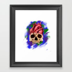 Think With Your Heart Framed Art Print