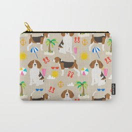 Beagles beagle pattern beach classic socal dog breed pattern palm trees tropical Carry-All Pouch