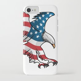 Patriotic Flying American Flag Eagle iPhone Case