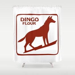 Dingo Flour Shower Curtain