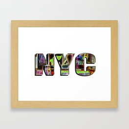 NYC (typography) Framed Art Print