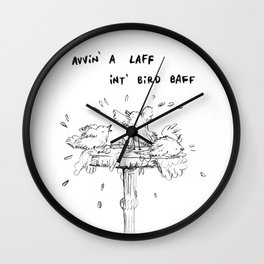 Northern Bird Bath Wall Clock
