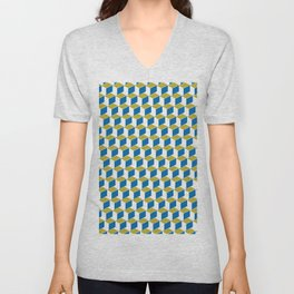 Geometric Box Unisex V-Neck