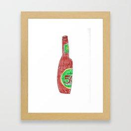 50 Framed Art Print