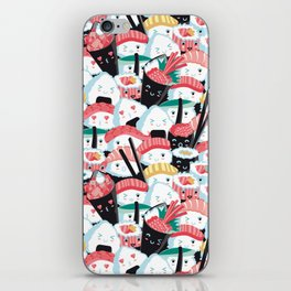 Kawaii Sushi Crowd iPhone Skin