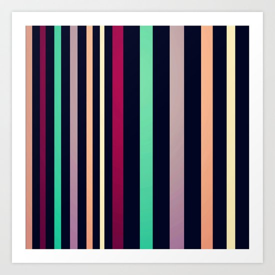 colorful lines! Art Print