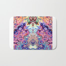 Faces in abstract sha Bath Mat