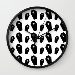 texture of dead coffins Wall Clock