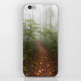 Adventure Ahead - Foggy Forest Digital Nature Photography iPhone Skin