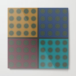 Himalayan Candy Combo - Mini Mandala Pattern Metal Print