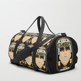 Ice Hockey Black and Yellow - Faceov Puckslapper - Josh version Duffle Bag