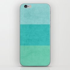 three stripes - teal iPhone & iPod Skin