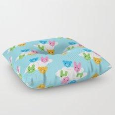 Kawaii Animal Balloons Pattern Floor Pillow
