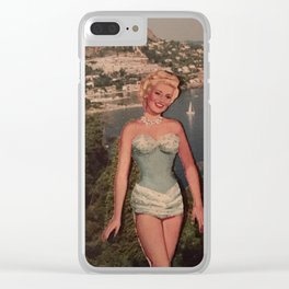 Swinging on the Riviera One Day Clear iPhone Case